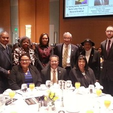 Marcia attended the Delta Beta Lambda Chapter of Alpha Phi Alpha Fraternity, Inc.'s Annual MLK Breakfast. Pictured with Congressman Bobby Scott, Mayor McKinley Price, Delegate Mamye BaCote, and Friends.